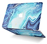 WENDALIA Laptop Hard Shell Case Rubber Coated Plastic Cover (Pattern Design Top + Bottom) Compatible New MacBook Pro 13 Inch (2016-2019) +/- Touch Bar A2159/A1989/A1706/A1708 (Ocean Marble)