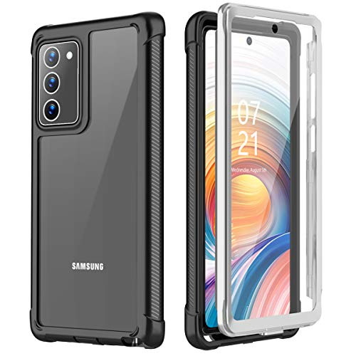 Nineasy Samsung Galaxy Note 20 Case, with Built-in Screen Protector Full Body Heavy Duty Shockproof Clear Cover for Galaxy Note 20 5G 6.7'' 2020