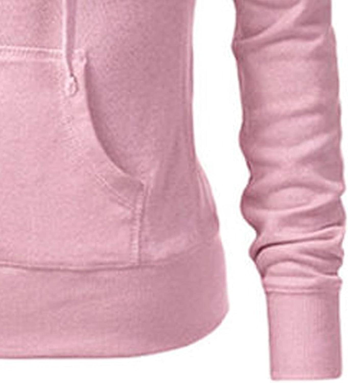 JPLZi Women's Active Casual Zip Up Hoodie Jacket, Lightweight Thin Pullover Hoodie Jackets Sweaters Soft Outwear Coat