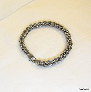 16 Gauge Stainless Steel Jens Pind Chainmaille Bracelet - Unisex