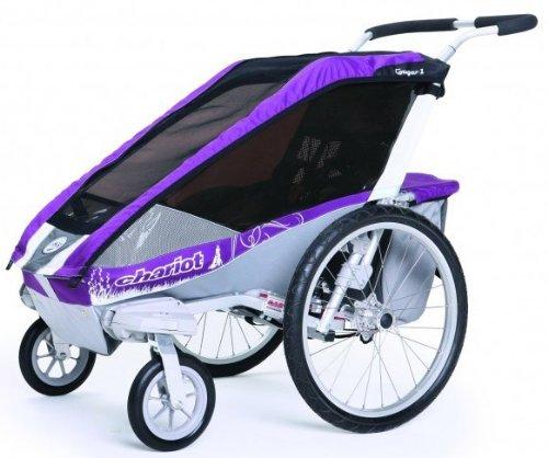 Chariot Cougar 1 purple Fahrradanhänger
