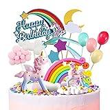 Humairc 2 - Decoración para tarta de unicornio rosa