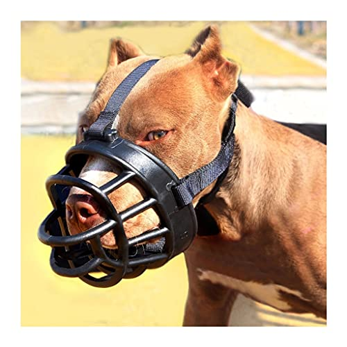 URUNI Hocico De Perro Cesta Suave Muchos De Silicona para Pequeños Perros Grandes Grandes Evitan Que Mordida La Masticación Ladrando El Perro De La Mascota Ajustable (tamaño : 5#)