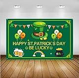 JOERRES Bannière décorative pour la Saint Patrick - Très grande taille - Décoration intérieure ou extérieure - Ajoute une atmosphère de fête - Corde attachée - 110 x 180 cm (A)