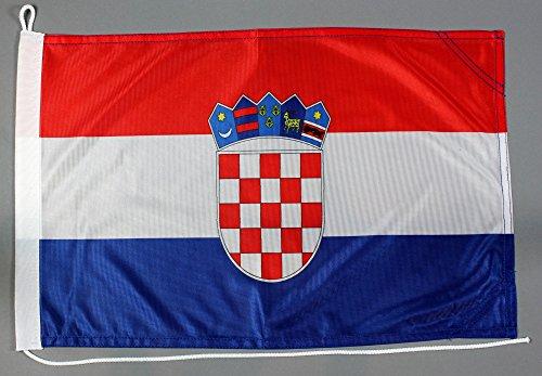 Buddel-Bini Bootsflagge Kroatien 30 x 45 cm in Profiqualität Flagge Motorradflagge
