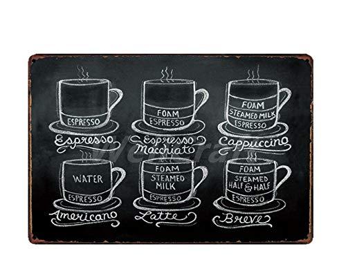 skygvvege Metall Schilder Blechschilder Wandschilder Kaffee Cocktail Kuchen Tee Blechschilder Wandtafel Metall Malerei Antik Geschenk Bar Pub Dekor