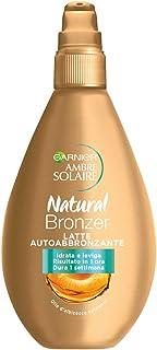Garnier Ambre Solaire Latte Autoabbronzante Natural Bronzer, Risultato Visibile in 1 Ora, Arricchito con Olio d'Albicocca ...