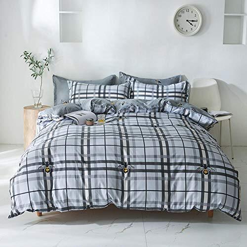 Rnvvaceo Simple stripes Comforter Set Full, 3 Piece Super Soft Microfiber Bedding Sets, All-Season Reversible Quilt Duvet for Children Boy Girl Teen Kids - Includes 1 Comforter, 2 Pillow Shams King