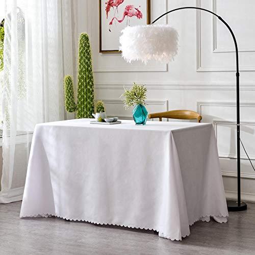 XQSSB Mantel para Mesa Patrón de Cocina Salón Durable para Las Mesas Cuadradas Rectangular Blanco 160 × 240cm