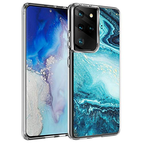 Lavender1 Funda para Samsung Galaxy S21 Ultra Funda, mármol, ultra híbrida, Galaxy S21 Ultra funda suave transparente de silicona TPU funda protectora compatible con Samsung S21 Ultra O 42