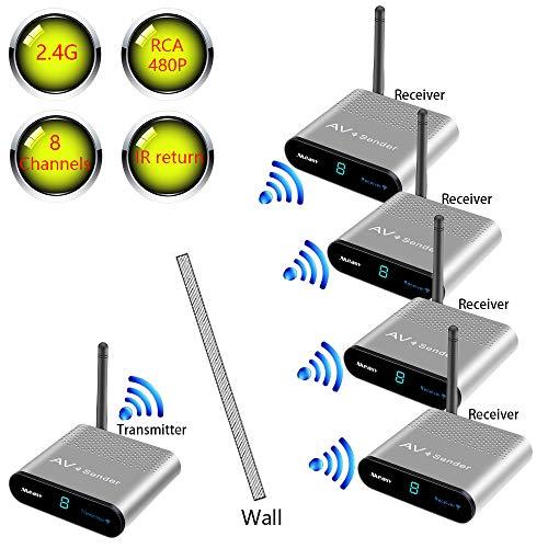 measy av230 2.4 Ghz Draadloze AV Audio Video TV zender en ontvanger voor IPTV DVD STB DVR 1TX TO 4RX