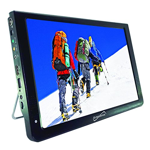 SuperSonic SC-2812 Portable Widescreen LCD Display with Digital TV Tuner, USB/SD Inputs and AC/DC Compatible for RVs (12-inch)