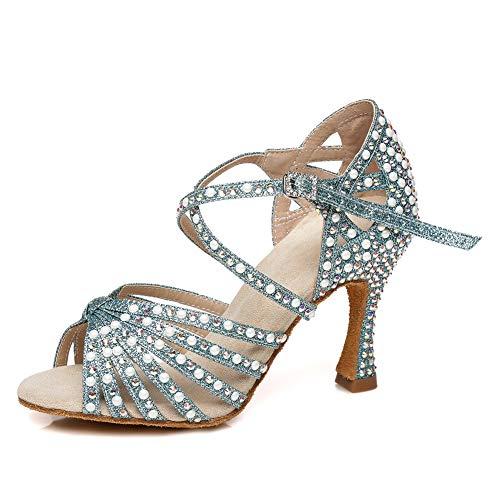 SWDZM Zapatos Baile Latino Mujer y Niñas Baile de Salon Salsa Tango...