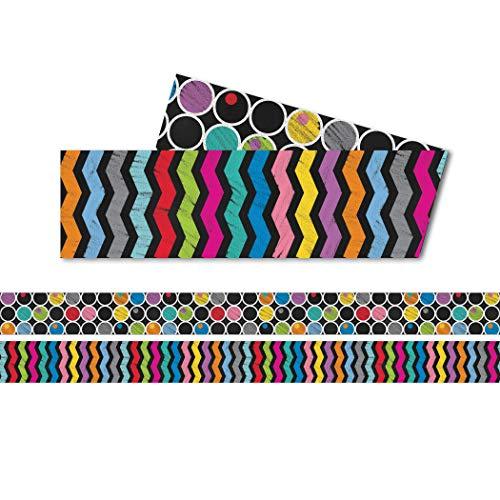 Carson Dellosa – Colorful Chalkboard Straight Borders, Classroom Décor, 36 Feet