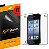 (6 Pack) Supershieldz Anti Glare and Anti Fingerprint (Matte) Screen Protector Shield for iPhone 4 4S (3 Front and 3 Back)