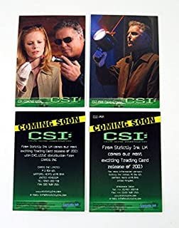 2003 Strictly Ink CSI Crime Scene Investigation Promo Card Set (2) Nm/Mt