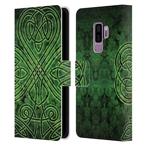 Head Case Designs Officially Licensed Brigid Ashwood Irish Shamrock Celtic Wisdom 3 Leather Book Wallet Case Cover Compatible with Samsung Galaxy S9+ / S9 Plus