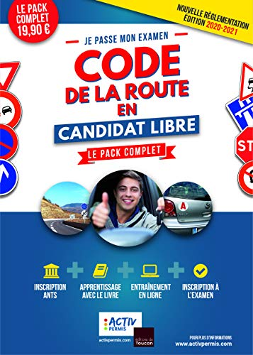 Code de la route 2020-2021 en candidat libre - apprentissage, entrainement, inscription