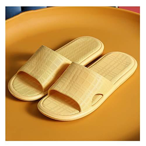 YHshop Pantuflas Playa Zapatillas Mujer Verano Interior hogar baño baño baño Mudo eva Pareja Sandalias y Zapatillas cómodo y Suave Sandalias (Color : B, Size : 38-39)