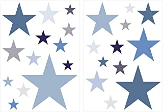 Sticker mural chambre d'enfant autocollants de décoration étoiles dans un délic