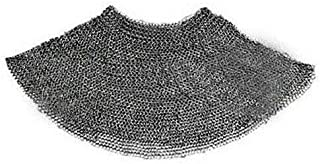 SAI Musicals Chainmail Aventail Armor 10 Mm Flat Riveted W Washer Mild Steel Oil Finish