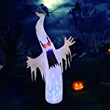 GOOCHI 6FT Halloween Inflatables Outdoor Decorations Halloween Blow Up Pumpkin Ghost Decoration