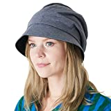 CHARM Casualbox | Damen Sonne Hut Bio Baumwolle Japanisch Design Weich UV Schutz Marine