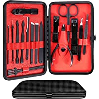 Edward's Manicure Pedicure Nail Clippers Set with Luxury Travel Case