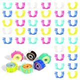 USHWITI 100 Pieces Plastic Sewing Machine Bobbin Clamp Bobbin Holder Thread Holder Bobbins for Brother Sewing Machine Clip Organizing Tool 5 Color