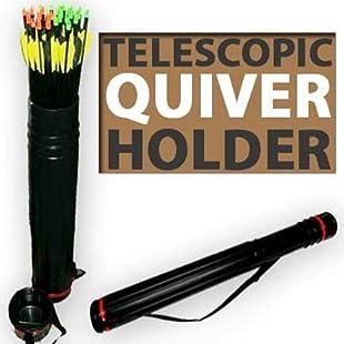 Telescopic Archery Quiver Arrow Holder Tube Back Case:Comoparardefumar