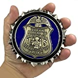 EL9-005 FBI Challenge Coin Special Agent Intel Analyst Federal Thin Blue Line