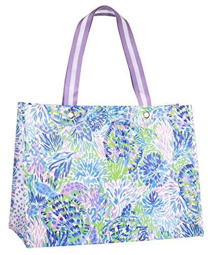 Lilly Pulitzer XL Market Shopper Bag, Oversize Reusable Grocery Tote with Comfortable Shoulder Straps Size: XL