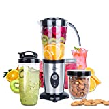 Blender Food Processor, Uten Small Mini Portable Smoothie Maker and Mixer Family Personal