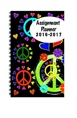 """House of Doolittle 2016-2017 Weekly Academic Planner Assignment Book, Peace, 5 x 8"""" (HOD274RTG67-17)"""