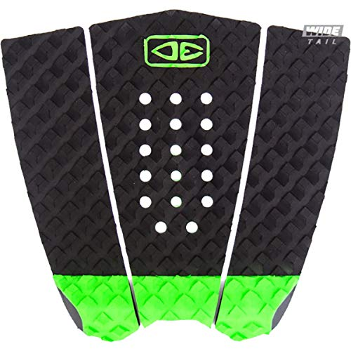 Ocean & Earth Simple Jack Hybrid Wide Tail Black/Lime Surfboard Traction Pad