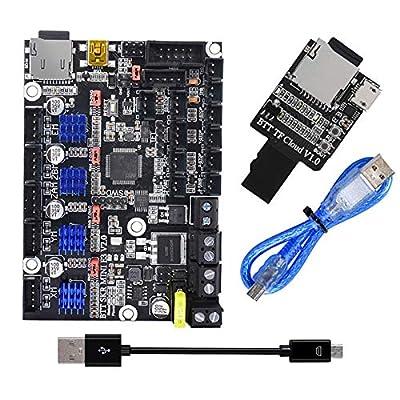 PoPprint BTT SKR MINI E3 V2.0 + TF Cloud V1.0 SD Cloud Wireless Transmission Module for Cleality Ender 3 3D Printer Parts… B088CMTDB3