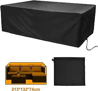 160 Anti-UV Copertura Protettiva per Tavoli 420d Oxford A Prova di Polvere 200 70 Cm per Set di Sedute Tavoli da Giardino E Set di Mobili Popolic Copertura Mobili Giardino Impermeabile
