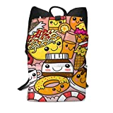 Homebe Scolaire Sac School Sac à Dos Cartable for Adult Boys Girls Kids, Doodle Fast Food Printed Primary Junior High Cute Bag Bookbag Elementary