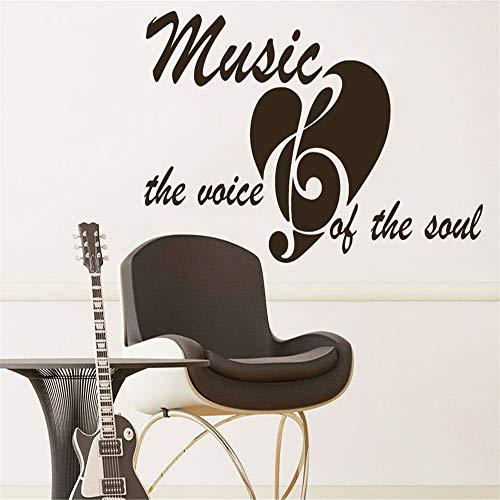 yiyiyaya Fototapete Zitat Musik die Stimme der Seele Phrase Recording Studio Decor rot 71x132cm