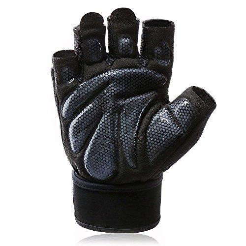 Lovedrop 1 Paar Fitness Handschuhe mit Handgelenkstütze, Gewichtheben und Gym Workout für Herren und Damen, Größe M