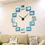 XMSIA Reloj de Pared Decorativo No Tictac DIY Imagen de Pared Reloj de Pared nórdica Sala de Estar Moderna decoración del Reloj de Pared de combinación Silencioso para Sala de Estar