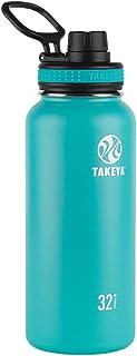 Takeya Originals Vacuum-Insulated Stainless-Steel Water Bottle, 32oz, Ocean