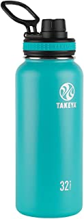 Takeya 50015 Originals Vacuum-Insulated Stainless-Steel Water Bottle, 32oz, Ocean, 32 oz