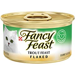 Twenty-Four (24) 3 Oz. Can - Purina Fancy Feast Flaked Trout Feast Wet Cat Food 100% Complete And Balanced Nutrition For Adult Cats And Kittens High-Quality Fish Delivers Rich Flavor Tender Flaked Bits Create A Tempting Texture Cats Crave Essential V...