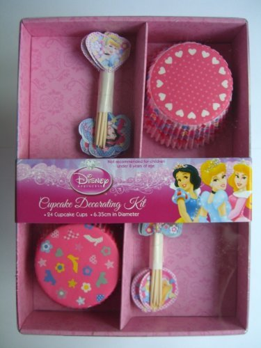Disney Kit de décoration de cupcake 25 pièces Motif princesses