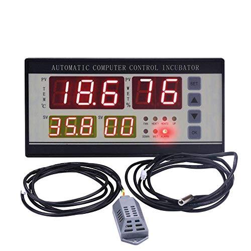 YELLAYBY Controlador de humedad de la temperatura de la incubadora industrial 0-99% RH 0-40.5 ° C con ± 0.1 ° C Alta precisión
