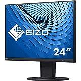 EIZO EV2460 60,5 cm (23,8 Zoll) Ultra-Slim Monitor (DVI-D, HDMI, D-Sub, USB 3.1, DisplayPort, 5 ms Reaktionszeit, Auflösung 1920 x 1080) schwarz