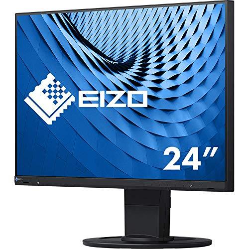 EIZO FlexScan EV2460-BK 60,5 cm (23,8 Zoll) Ultra-Slim Monitor (DVI-D, HDMI, D-Sub, USB 3.1 Hub, DisplayPort, 5 ms Reaktionszeit, Auflösung 1920 x 1080) schwarz