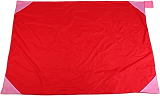WINOMO 70 x 110 cm ficka campingfilt lätt vattentät strand picknickfilt för utomhusaktiviteter (röd)