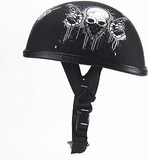 小さくてコンパクト オートバイハーフヘルメットオープンフェイスヘルメットハーフシー..